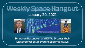 Weekly Space Hangout: January 20, 2021 — Solar System Superhighways with Dr. Aaron Rosengren & Di Wu
