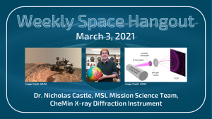 Weekly Space Hangout: March 3, 2021 – Dr. Nicholas Castle, MSL Mission Science Team